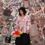 ANGIE romantic floral blouse, $29; MOONLIGHT skirt, $140; AYALA BAR necklace, $137; KENNY MA crystal bracelet, $53