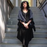 Cropped kimono by ANTHILL FABRIC GALLERY, $165; MOONLIGHT jumpsuit, $140; CHANOUR leather and faux-pearl necklace, $32.50