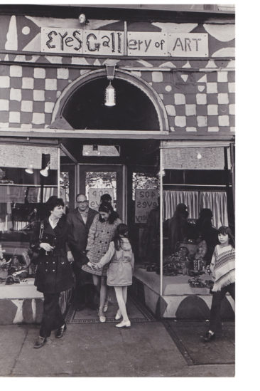 Facade of Eye's Gallery in the 1970s. Photo courtesy of Julia and Isaiah Zagar.