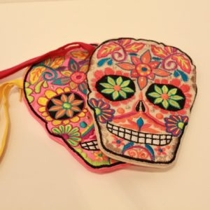 Colorful Skull Pouch