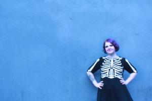 UNIQUE VINTAGE Skeleton Dress, $188
