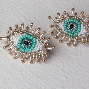 Olivia Dar Beaded Eye Earrings