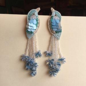 Olivia Dar Beaded Bird Earrings