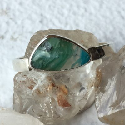 Sterling Silver and Opal Ring