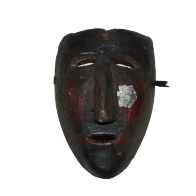 Vintage Negrito Dance Mask from Sevina, Michoacán