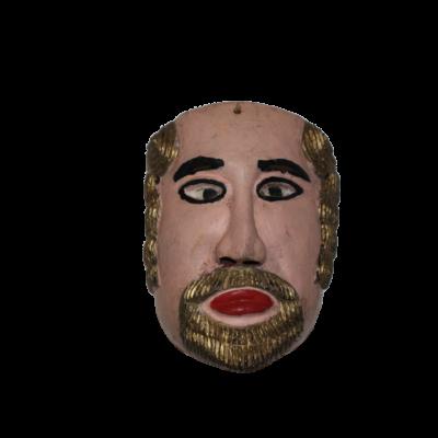 Vintage Mexican Gold Beard Conquistador Mask