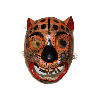 Large Tigre Jaguar Dance Mask from Guerrero