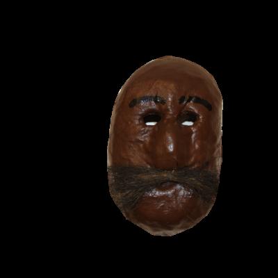 Paper Mache Negrito Carnival Mask
