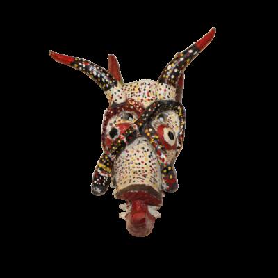 Vintage Mexican Pastorela Diablo Mask