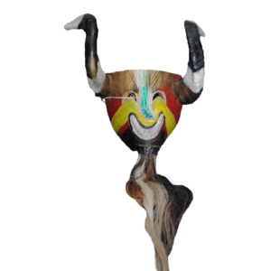 "Vintage Macho Cabrillo (""Billy Goat"") Otomí Mask from Hidalgo"