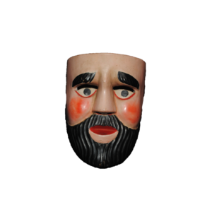 Lacquered Macque Bearded King Mask from Uruapan