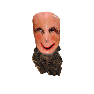 Decorative Mask with Straw Beard