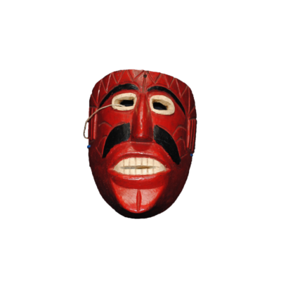 Vintage Carnival Mask from Michoacán