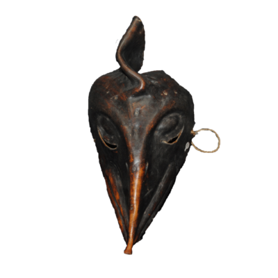 Leather Hide Bird Mask