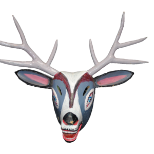 Vintage Carnival Deer Mask from Carpinteros