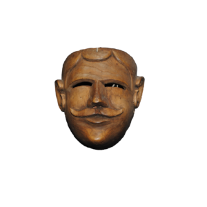 Unpainted Portrait Mask from Michoacán
