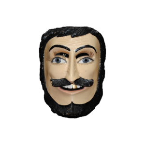 Lacquered Bearded Gold Tooth Character Mask