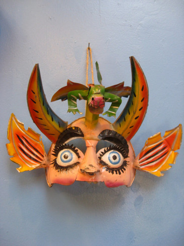 Bolivian Dragon Face Dance Mask