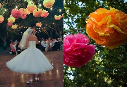 Paper Flowers Wedding Decor Eyes Gallery
